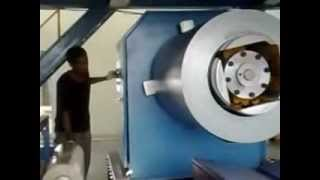Polyurethane /Mineral Wool sandwich panel production line hydraulic uncoiler
