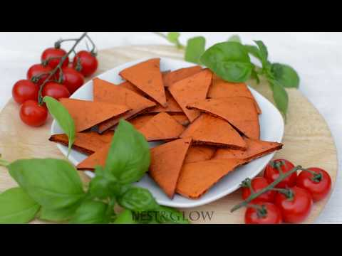 Tomato and Basil Lentil Chips Recipe Oil and Gluten free