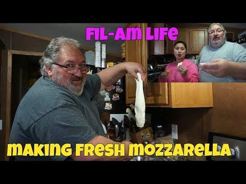 FILIPINA AMERICAN LIFE IN AMERICA MAKING FRESH MOZZARELLA