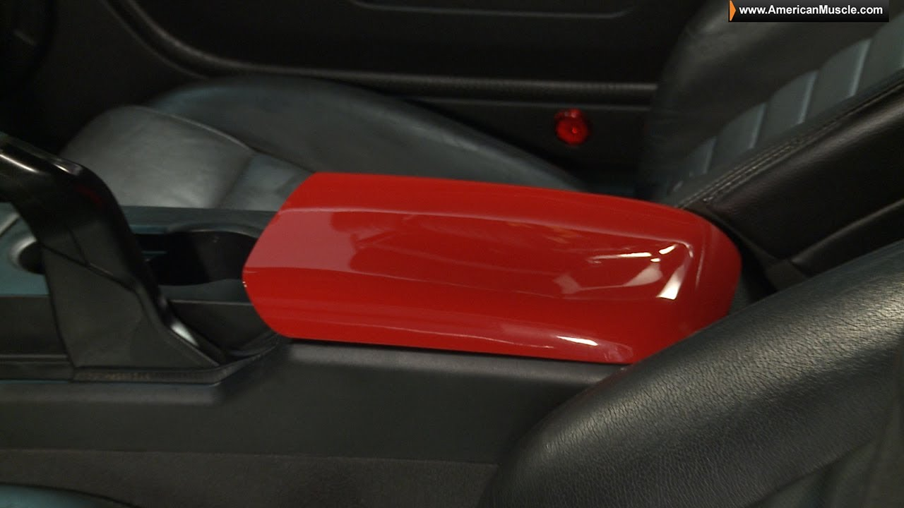 2005-2009 Ford Mustang GT Center Console Arm Rest Cover w// GT Logo