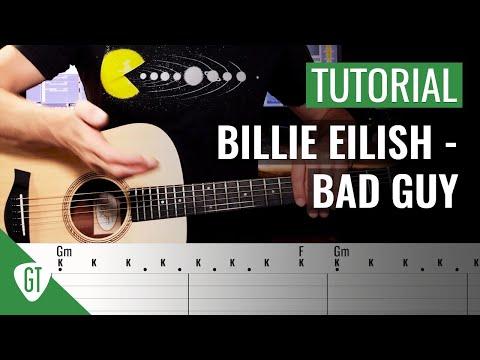 Billie Eilish - Bad Guy | Gitarren Tutorial Deutsch