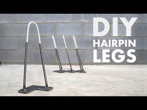 How To Make Hairpin Table Legs | EASY