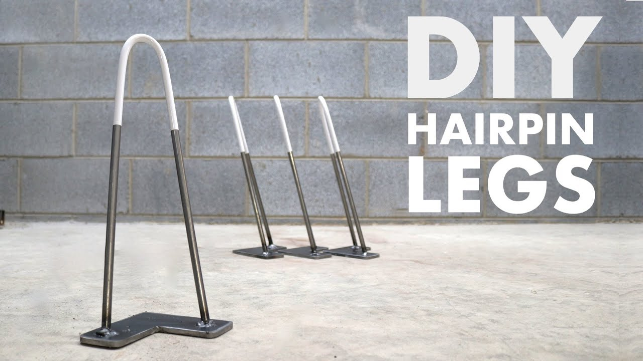 How To Make Hairpin Table Legs Easy Youtube