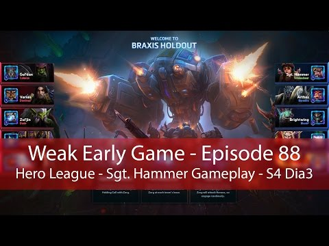 Heroes of the Storm: Weak Early Game and Strong Late Game (Sgt. Hammer Gameplay)