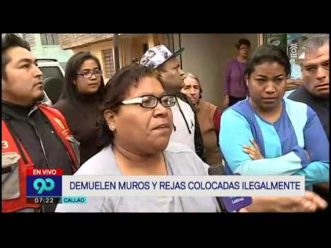 Recuperan veredas que fueron tomadas por los vecinos del Callao