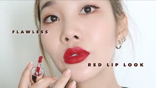 Download KOREAN GLASS SKIN + RED LIP MAKEUP 💋 Mp3 and Videos