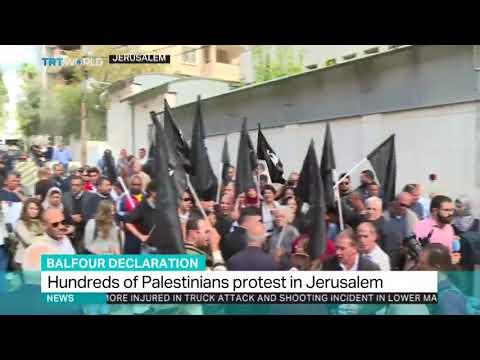 Palestinians Protest Balfour Declaration