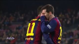 messi and neymar miss penalties vs villareal
