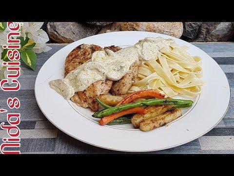 Chicken Steaks With Mushroom Sauce And Pasta - Howdy Style Texan Steaks - Nida's Cuisine 2018 -steak