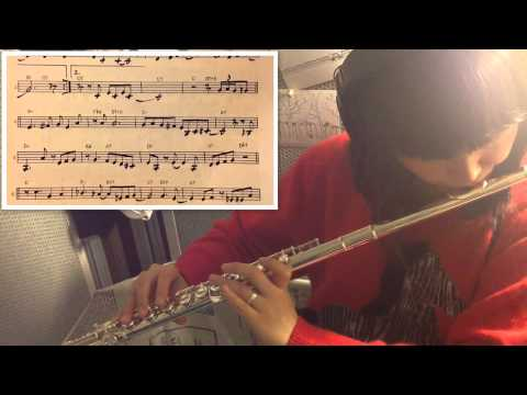 Yardbird Suite 210bpm (charlie parker) - jazz flute cover / with score