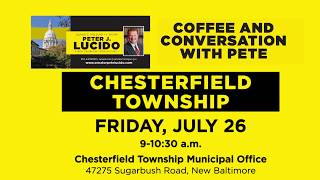 Sen. Lucido to host Coffee Hours on July 26