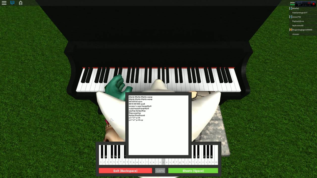 Roblox Virtual Piano Sheets Pompeii Youtube