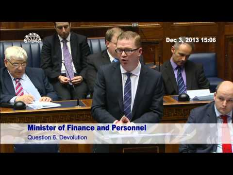 Question Time: Finance and Personnel 03 December 2013