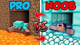 Minecraft NOOB vs. PRO : SWAPPED TUNNEL in Minecraft (Compilation)