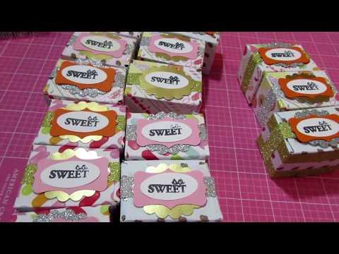 Mini Nutella Envelope Punch Board Treat Boxes