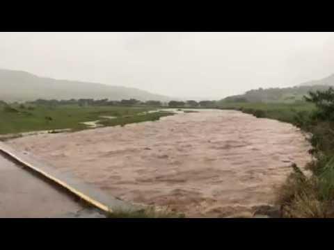 Roaring Tugela river following heavy rains