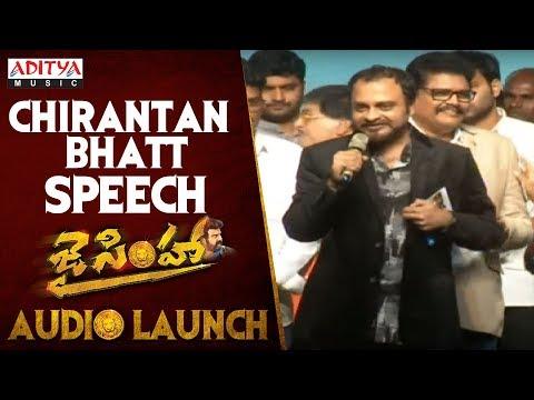 ChirantanBhatt Speech @ Jai Simha Audio Launch || Balakrishna || Nayanthara || C Kalyan