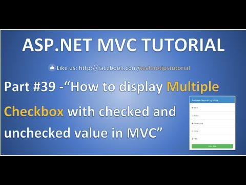 Part 39 - How to display Multiple checkbox with checked or unchecked value  in ASP NET MVC
