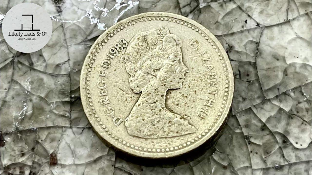 Restoration Old Coins UK pound イギリスの1ポンド硬貨磨き 鏡面仕上げ time lapse ASMR