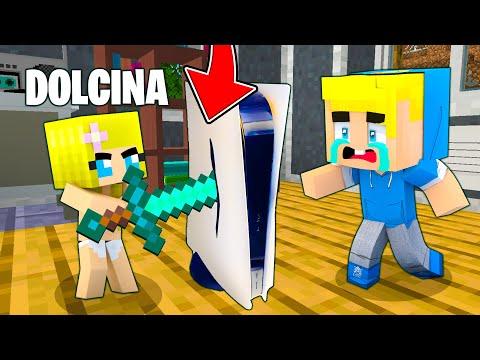 DOLCINA ROMPE LA PS5 A SBRISERINO!! - Famiglia Di Minecraft