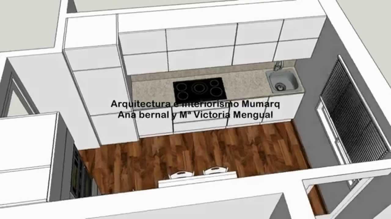 Cocina de 9 72 metros cuadrados youtube - Como distribuir una cocina cuadrada ...