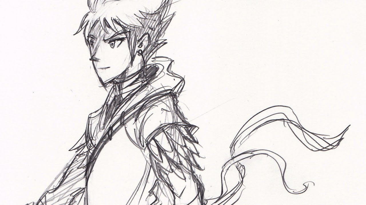 Drawing Time Lapse  Dragonscale Warrior