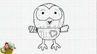 How to Draw Hoot the owl from Giggle and Hoot - Jimmy Giggle and Hoot Show - Video
