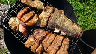 Горячее копчение рыбы видео рецепт(Горячее копчение рыбы видео рецепт http://bringingsuccess.ru/recepty.php В данном видео мы покажем, как коптят рыбу горячего..., 2014-09-02T19:17:42.000Z)