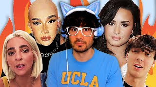 James Charles DEMONETIZED, Demi Lovato's APOLOGY, Gabbie Hanna GOES OFF ON EVERYONE, Bryce Hall SUED