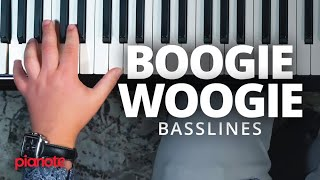 How To Play A Boogie Woogie Bassline (Piano Lesson)