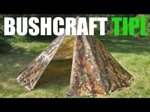Bushcraft DIY Tarp Tipi (Teepee) - Bushcraft Heroes