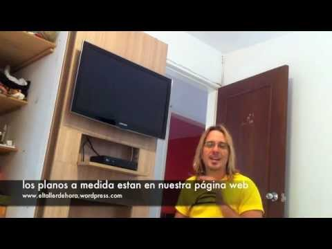 Mueble de tv moderno youtube for Muebles para television modernos