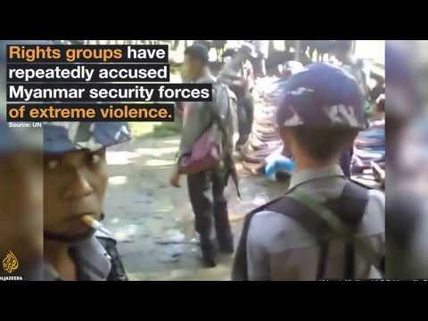 Video shows Myanmar police beating Rohingya