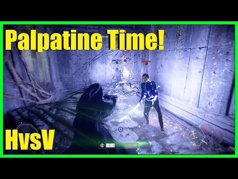 Star Wars Battlefront 2 - Heroes vs villains time!   Too many farmers? (Emperor Palpatine gameplay)