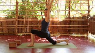 Séquence de yoga vinyasa en Inde / Niveau débutants