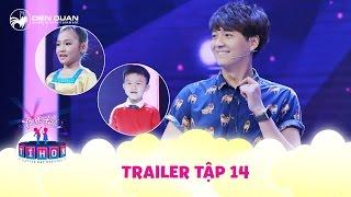 Biệt tài tí hon | trailer tập 14: Ngô Kiến Huy hát ru siêu hay tranh tài cùng cô bé dân ca Nghi Đình
