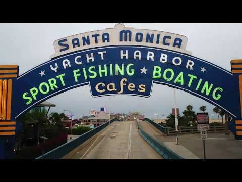 Los Angeles via Drone - Santa Monica Pier