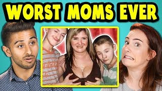 10 WORST MOMS EVER PHOTOS w/ Adults (React)