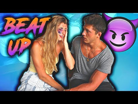 I GOT BEAT UP PRANK ON BOYFRIEND *CUTE REACTION*