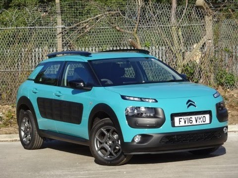 2016 16 citroen c4 cactus 1 2 puretech 82 feel 5dr in blue lagoon demo youtube. Black Bedroom Furniture Sets. Home Design Ideas