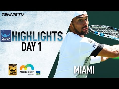 Highlights: Fognini, Fritz Win Wednesday At Miami 2017