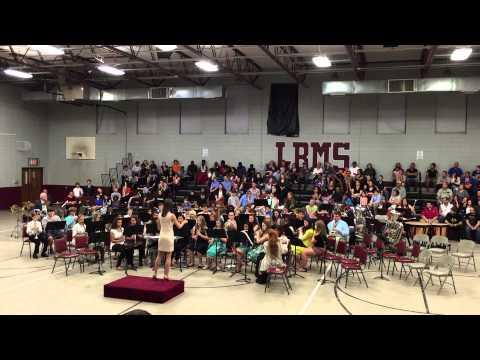Long Beach Middle School  band Bohemian Rhapsody 2015