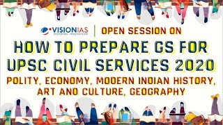 Open Session on how to prepare GS for UPSC Civil Services 2020, 19th Jan, 3 PM