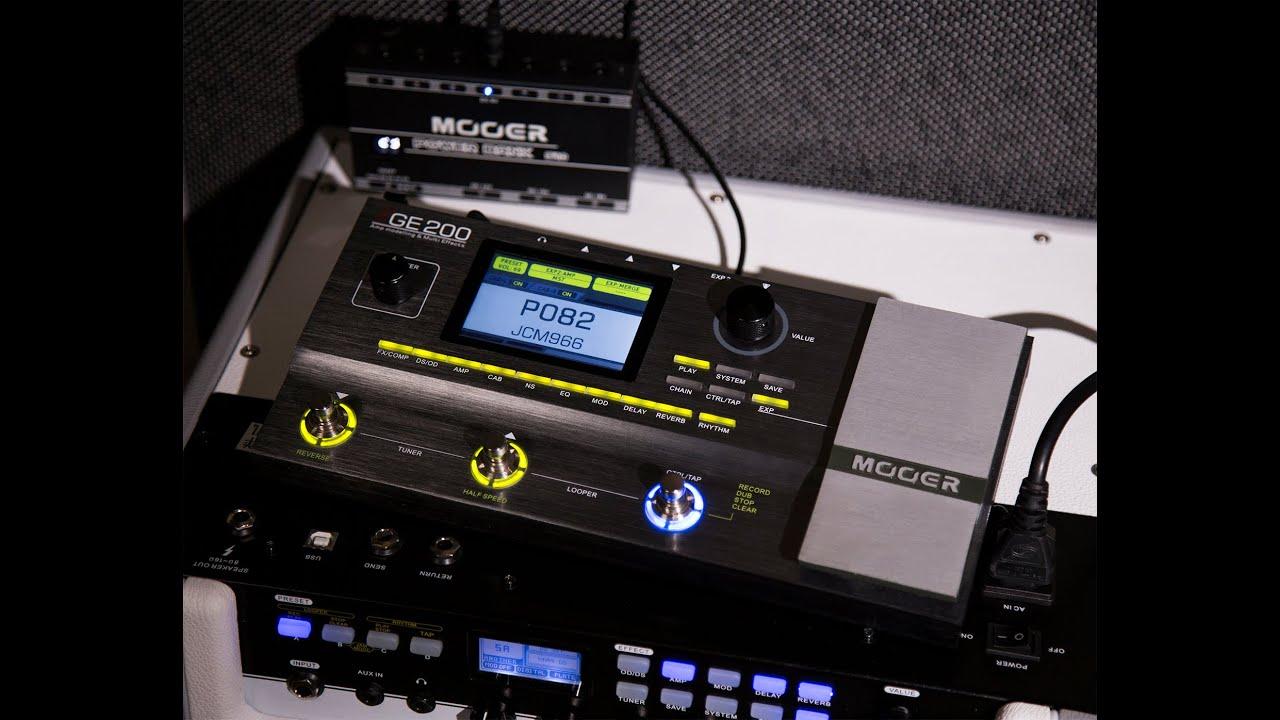 MOOER GE200 V2 0 0 Update Introduction