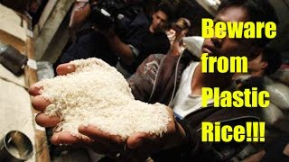 Beware!!! See How produced PLASTIC RICE in China