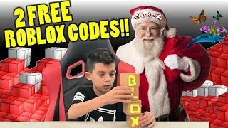 Roblox Santa Clause X-mas Giveaway FREE CODES / Roblox Toys Blind Box Series 2 Surprise Opening