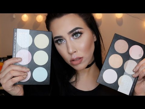 NEW BH Cosmetics Highlight Palettes   Demo and Review