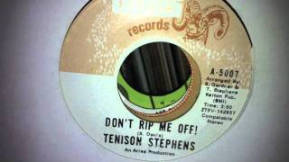 tenison stephens - don
