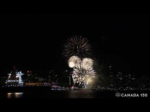 Canada Day 150 Firework Vancouver 2017
