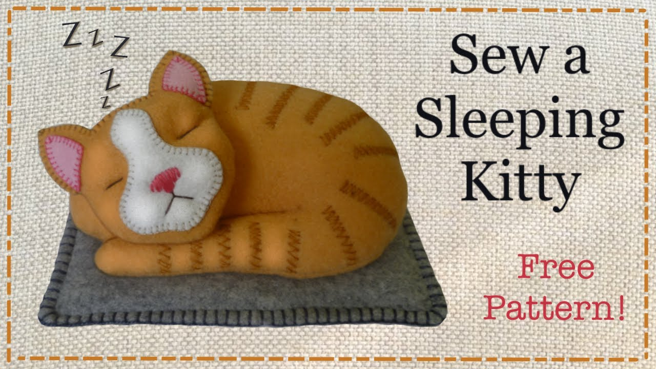Diy felt cat tutorial free pattern with lisa pay youtube voltagebd Images